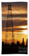 Sunset In Fremont Beach Towel