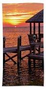 Sunset In Hatteras Beach Towel