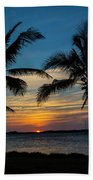Sunset In Key West Beach Towel