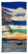 Sunset In Manuel Antonio  Beach Towel