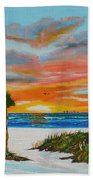 Sunset In Paradise Beach Towel by Lloyd Dobson