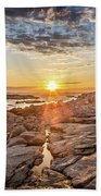 Sunset In Prospect, Nova Scotia Beach Towel