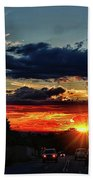 Sunset In Santa Fe Beach Towel