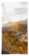 Sunset In Sion Beach Towel