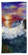 Sunset In The Cove Beach Towel