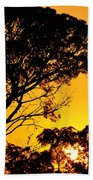 Sunset In Tujunga Beach Towel