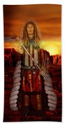 Sunset Indian Chief Beach Towel