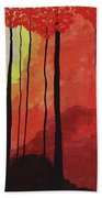 Sunset Into The Forest Beach Towel