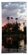 Sunset Island In Chaparral Lake Horizontal  Beach Towel