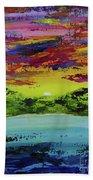 Sunset Island Beach Towel