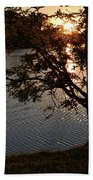 Sunset Lake Beach Towel