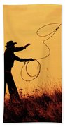 Sunset Lariat 4 Beach Towel