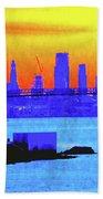 Sunset Lower Manhattan 2c3 Beach Towel