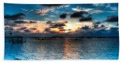 Sunset On Cedar Key Beach Towel