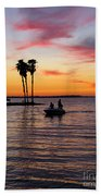 Sunset On Lake Dora At Mount Dora Florida Beach Towel