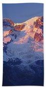1m4876-sunset On Mt. Rainier  Beach Towel