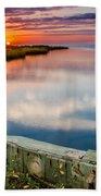 Sunset On Pamlico Sound Beach Towel