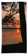Sunset On Sister Bay Beach Towel