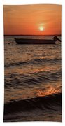 Sunset On The Bay Lavallette New Jersey  Beach Towel