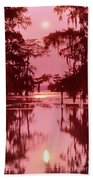 Sunset On The Bayou Atchafalaya Basin Louisiana Beach Towel