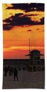 Sunset On The Clearwater Beach Beach Towel