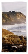 Sunset On The Coast Beach Towel