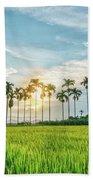 Sunset On The Field Beach Towel