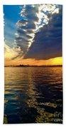 Sunset On The Hudson 03 New York Beach Towel