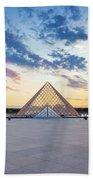 Sunset On The Louvre Beach Sheet