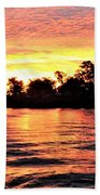 Sunset On The Murray River Beach Towel