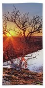 Sunset On The Osage River Beach Towel