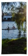 Sunset On The River - Seville  Beach Towel