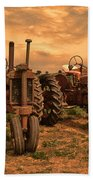 Sunset On The Tractors Beach Towel