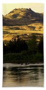 Sunset On The Yellowstone Beach Towel