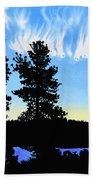 Sunset On Wickiup Beach Towel