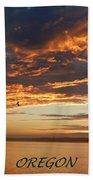Sunset Oregon Beach Towel