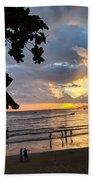 Sunset Over Ao Nang Beach Thailand Beach Towel
