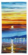Sunset Over California Beach Towel