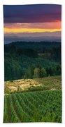 Sunset Over Central Oregon 4 Beach Towel