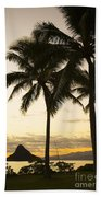 Sunset Over Chinamans Hat Beach Towel