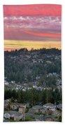Sunset Over Happy Valley Residential Neighborhood Beach Towel