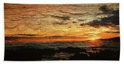 Sunset Over Hawaii Beach Towel