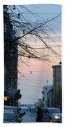 Sunset Over Helsinki Beach Towel