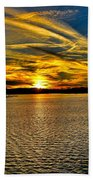 Sunset Over Lake Palestine Beach Towel