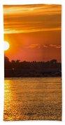 Sunset Over Marina Beach Towel