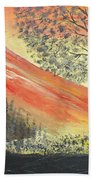 Sunset Over Mountains Beach Towel