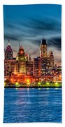 Sunset Over Philadelphia Beach Towel