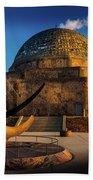 Sunset Over The Adler Planetarium Chicago Beach Towel
