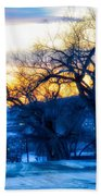 Sunset Over The City Beach Towel