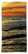 Sunset Over The Gulf Beach Towel